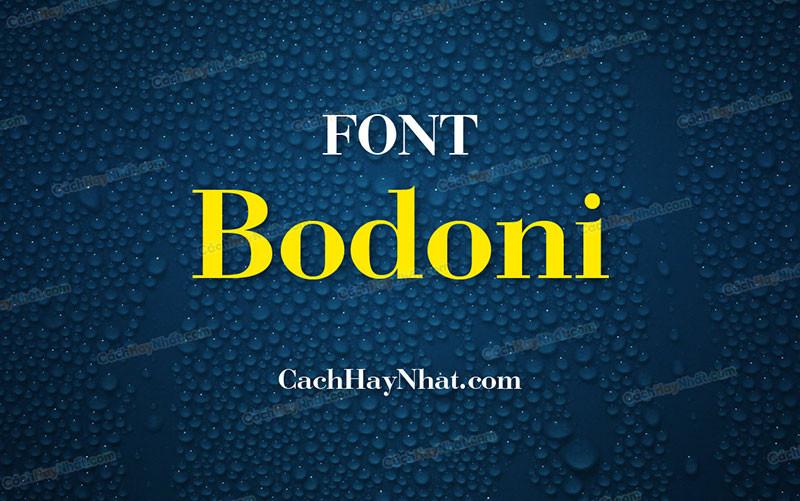 ảnh bìa font Bodoni Việt hóa