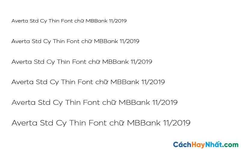 Averta Std Cy Thin Font - MBBank