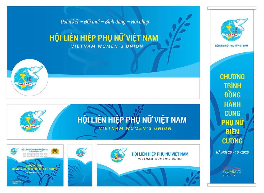 Băng Rôn, Banner, Pano, Backdrop Hội LHPN Việt Nam