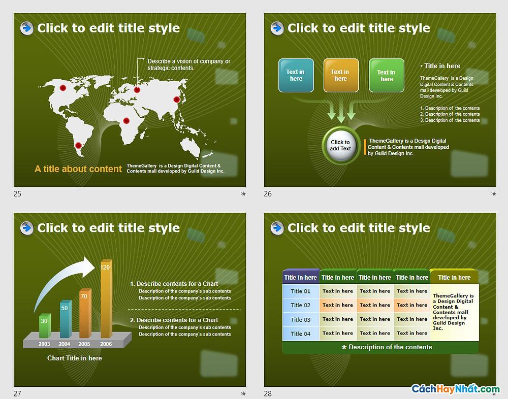 Download PowerPoint Template 436TGp_biz_dark_ani