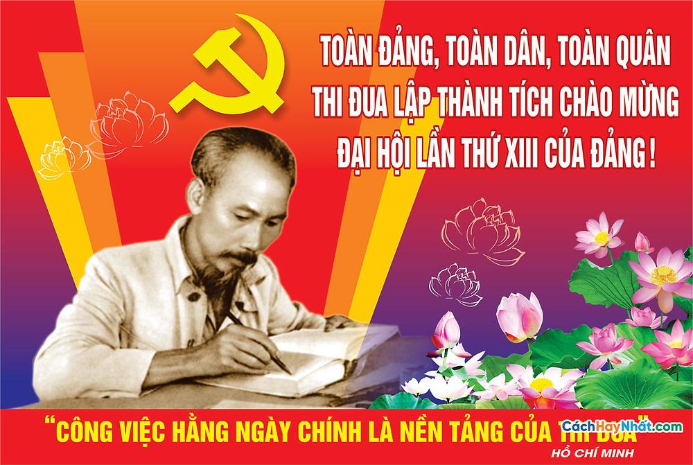 Vector Đại Hội Đảng Mẫu Pano Biển Bảng