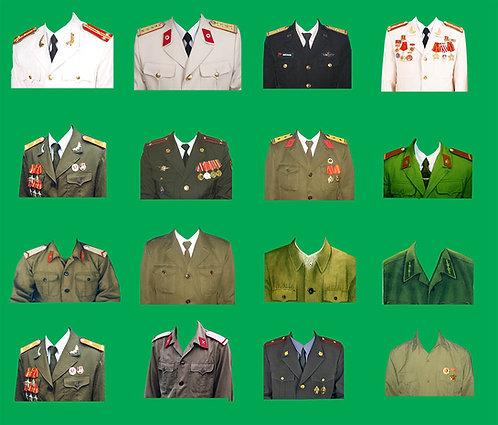 PSD Photoshop Ghép Ảnh Thẻ Quân Phục Bộ Đội Công An 025
