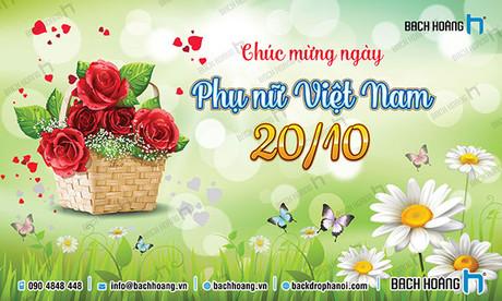 Backdrop Phông Phụ nữ Việt Nam 20-10