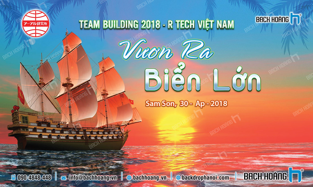Mẫu backdrop phông Gala Dinner, Team Building đẹp nhất 25