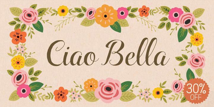 Font iciel Ciao Bella Việt Hóa