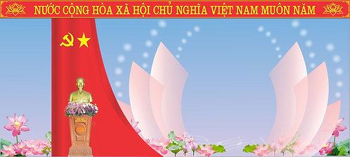 Backdrop For Party Congress Vector - Phông Sân Khấu Đại Hội Đảng