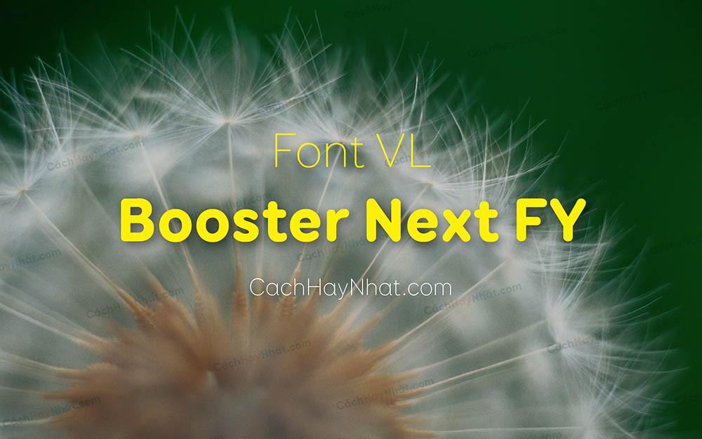 Font VL Booster Next FY Black Thin Việt Hóa