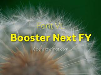 Download Font VL Booster Next FY Black Thin Việt Hóa