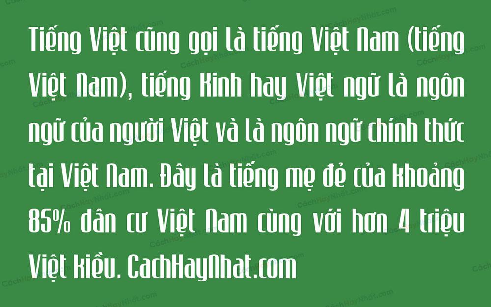 đoạn văn mô tả font SVN Mabella Việt hóa