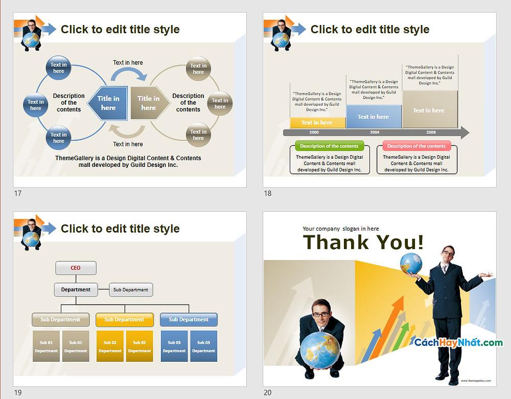 PowerPoint Template 582TGp_GoUp_light