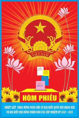 Ballot Box For Party Congress Vector - Hòm Phiếu Đại Hội Đảng
