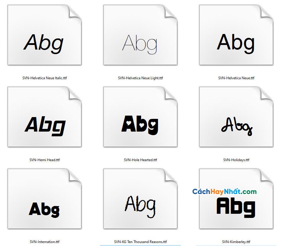 136 Fonts Chữ SVN Tuyệt Đẹp