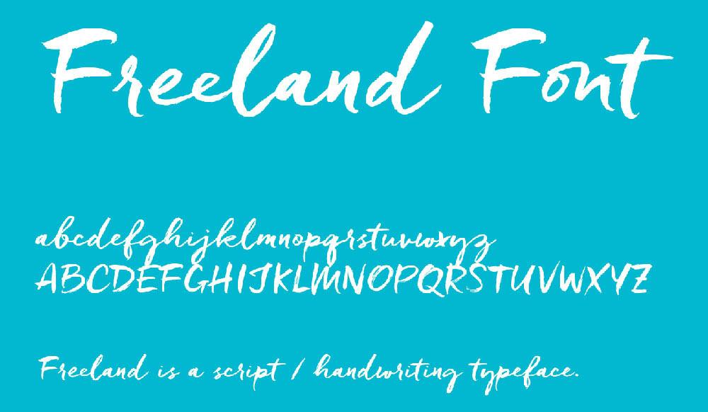 Font Freeland