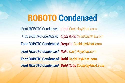 Download Bộ Font Roboto Condensed Family Việt Hóa