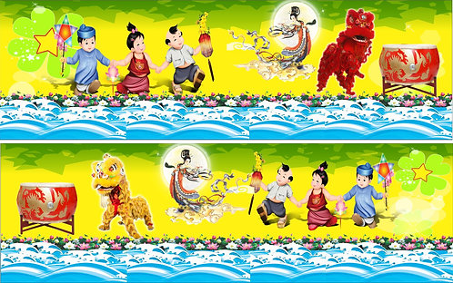 Banner Băng Rôn Trung Thu Vector Corel CDR 164