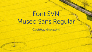 Download Font SVN-Museo Sans Regular Việt Hóa