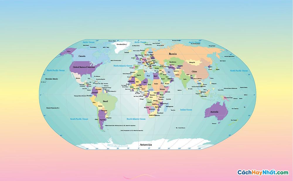 Bản Đồ Thế Giới World Map