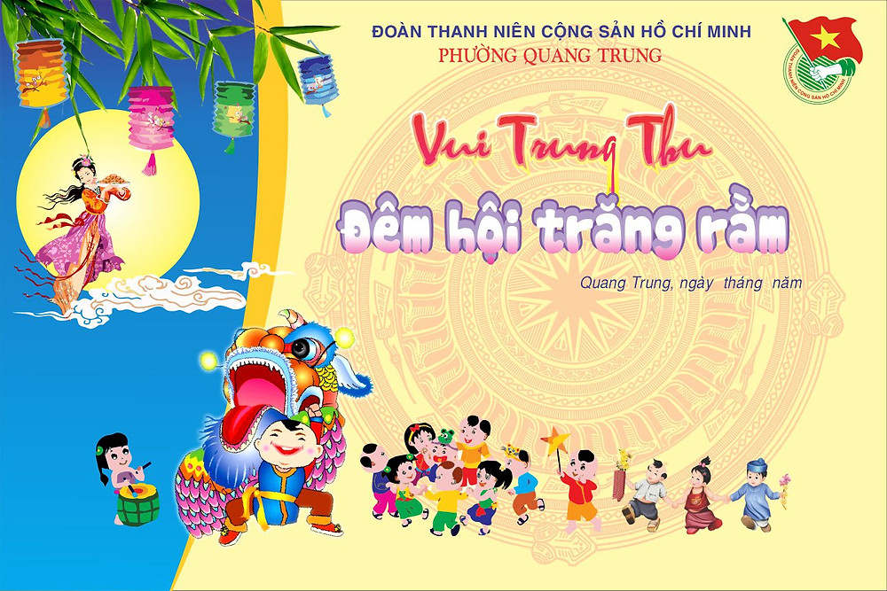 Background Backdrop Trung Thu Vector Corel CDR Part19