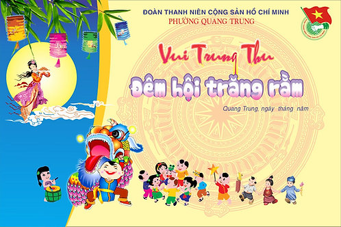 Background Backdrop Trung Thu Vector Corel CDR 114