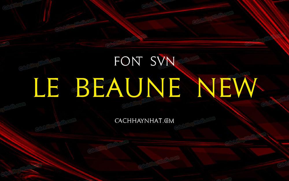 ảnh bìa mô tả font SVN Le Beaune New Việt hóa