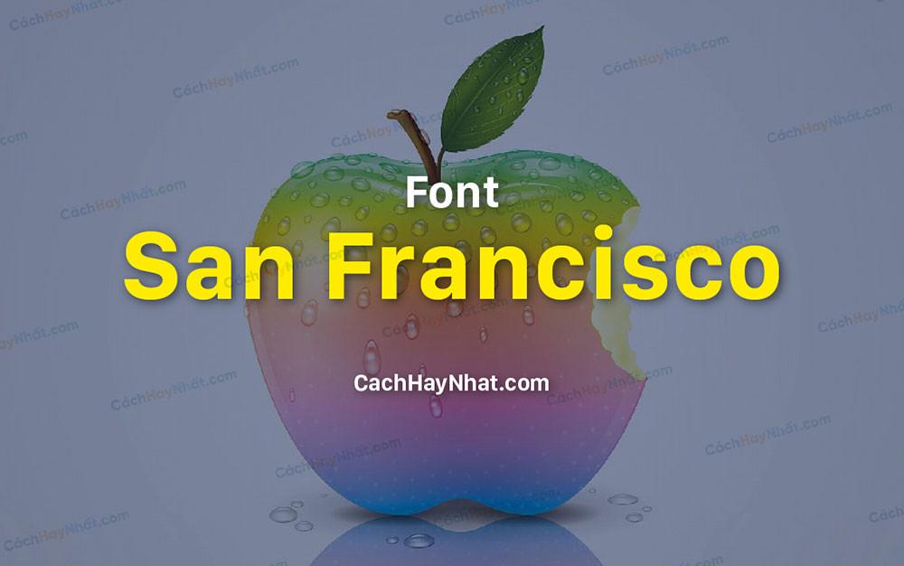 ảnh bìa Font San Francisco