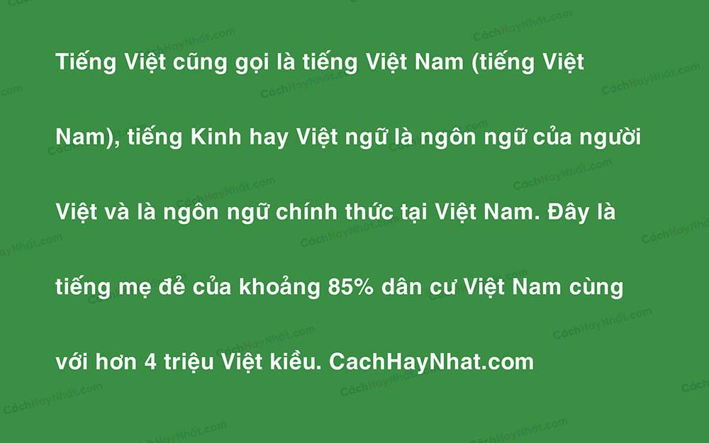 Ảnh mô tả một đoạn văn bản có sử dụng font VNI Helve