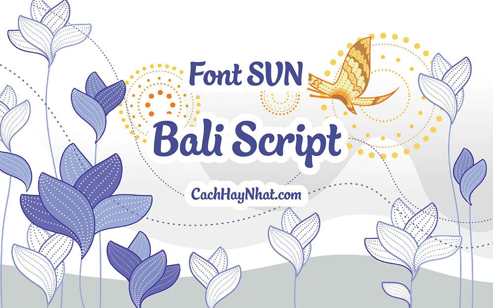 Font SVN-Bali Script Việt Hóa