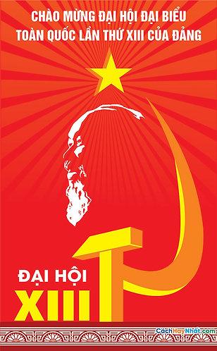 Pano Signs The Party Congress Vector - Pano Biển Bảng Đại Hội Đảng
