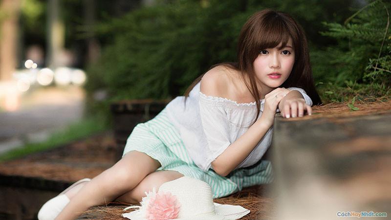 Hình nền em gái dễ thương Full HD - Cute Girl Wallpaper Full HD
