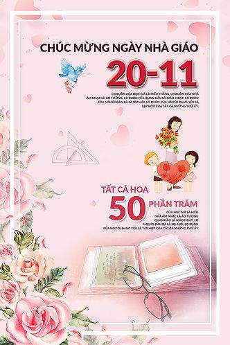 Poster Ngày Nhà Giáo Việt Nam 20/11 PSD Photoshop 22