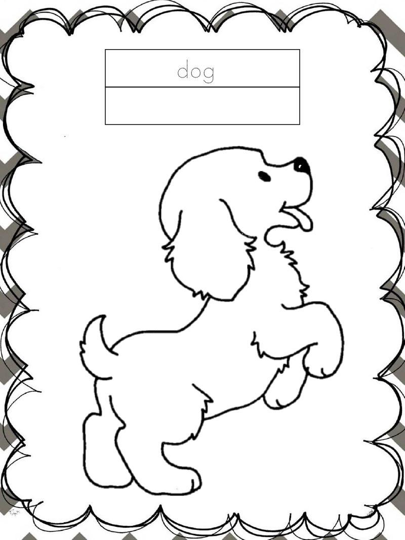 Tập tô màu động vật cho bé - con chó - dog