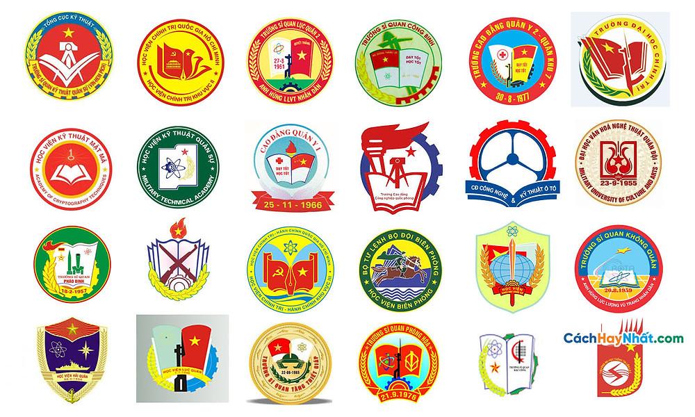 Tổng Hợp Logo Các Trường Đại Học, Học Viện Cao Đẳng Quân Sự Việt Nam