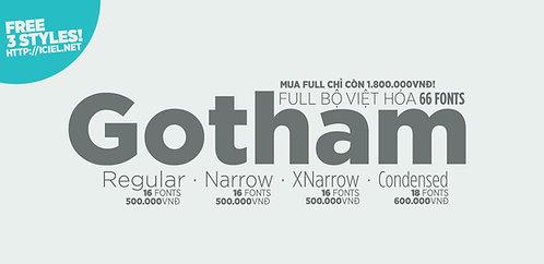 iCiel Gotham Free - Vietnamese font - Font Việt Hóa