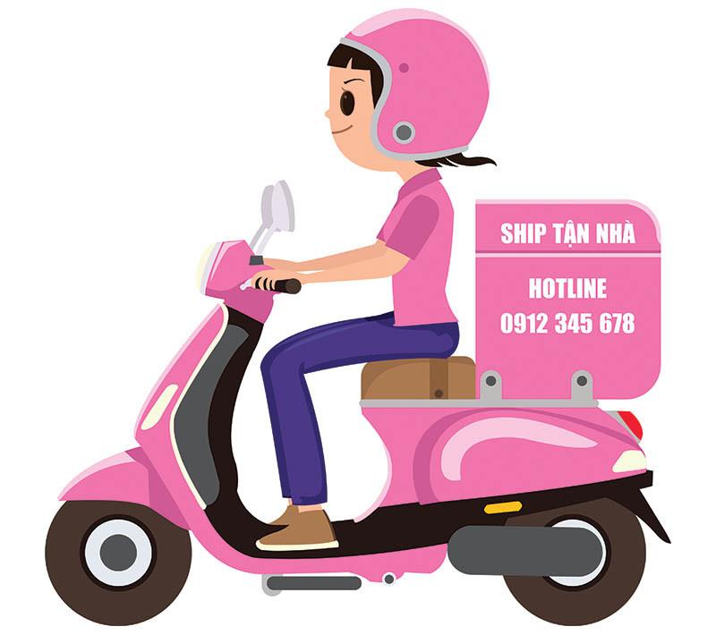 Vector Shipper Freeship Giao Hàng Nhanh Xe Máy