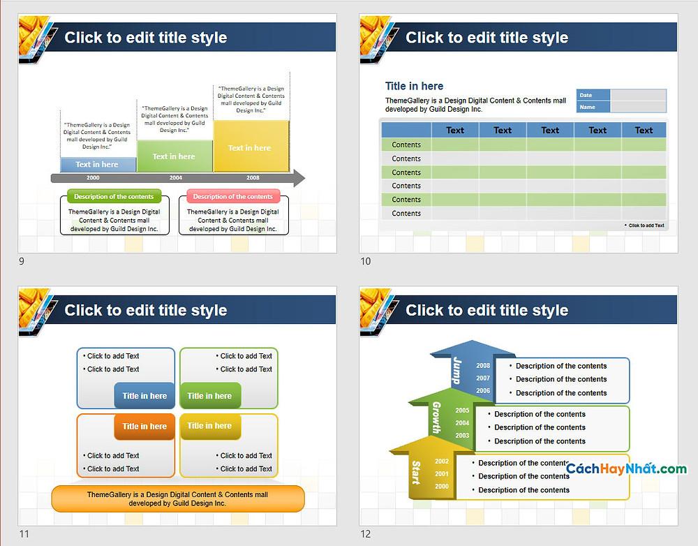 PowerPoint Template 581TGp_gold_light