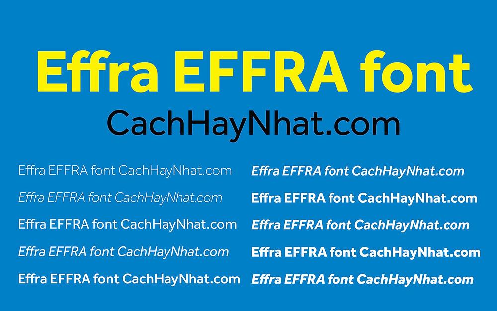 Font Effra Full Free