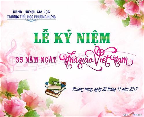 Phông Nền Background Ngày Nhà Giáo Việt Nam 20/11 Vector Corel CDR 11