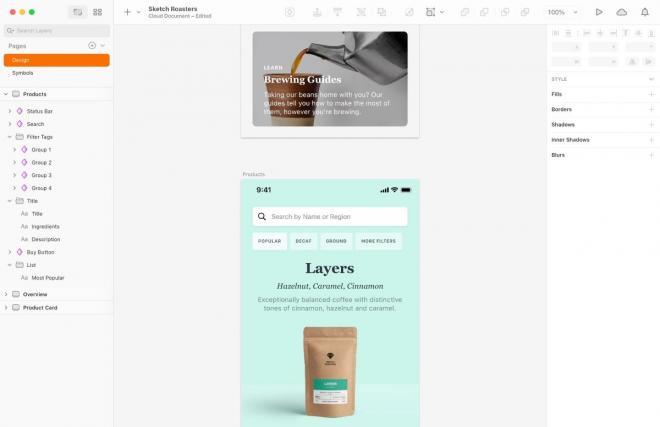 Phần mềm thiết kế web hàng đầu Sketch