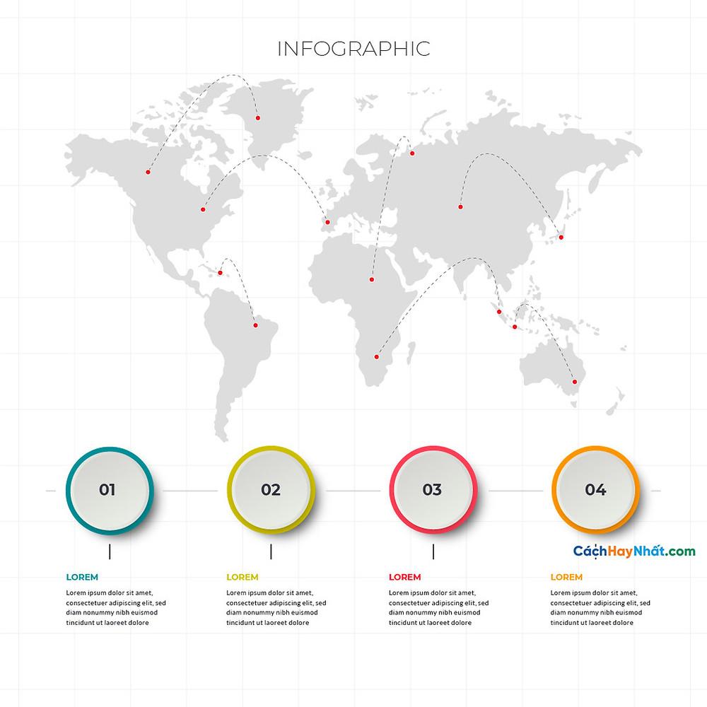 Bản Đồ Thế Giới global world map marker destinations