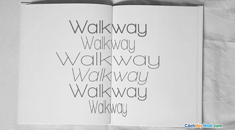 Download Free Font Walkway