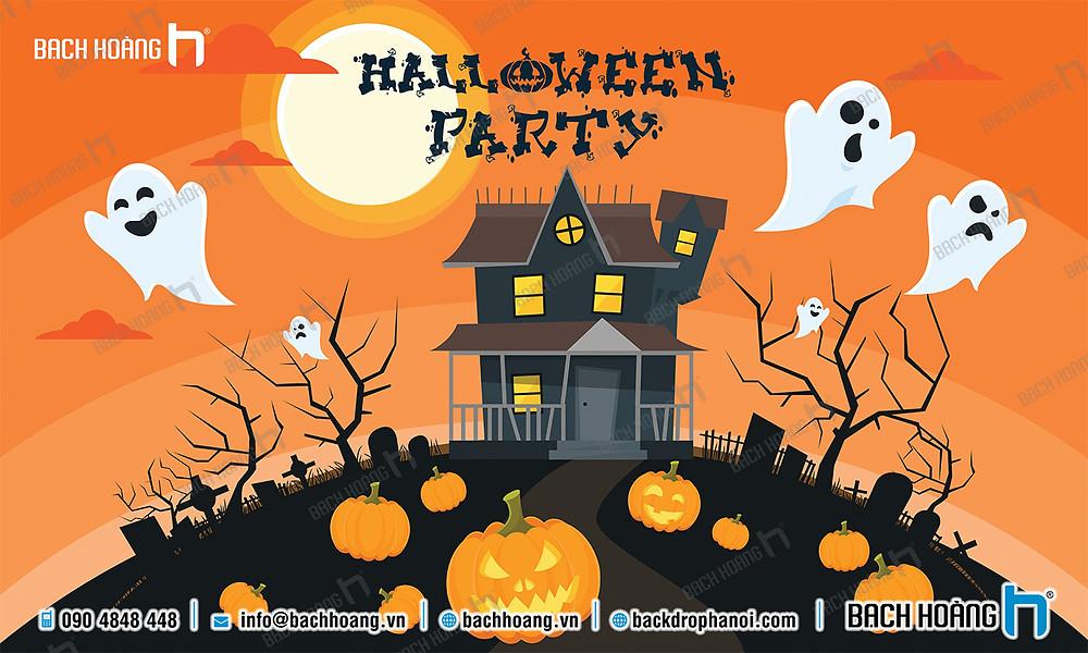Background, Backdrop - Phông Halloween Party đẹp