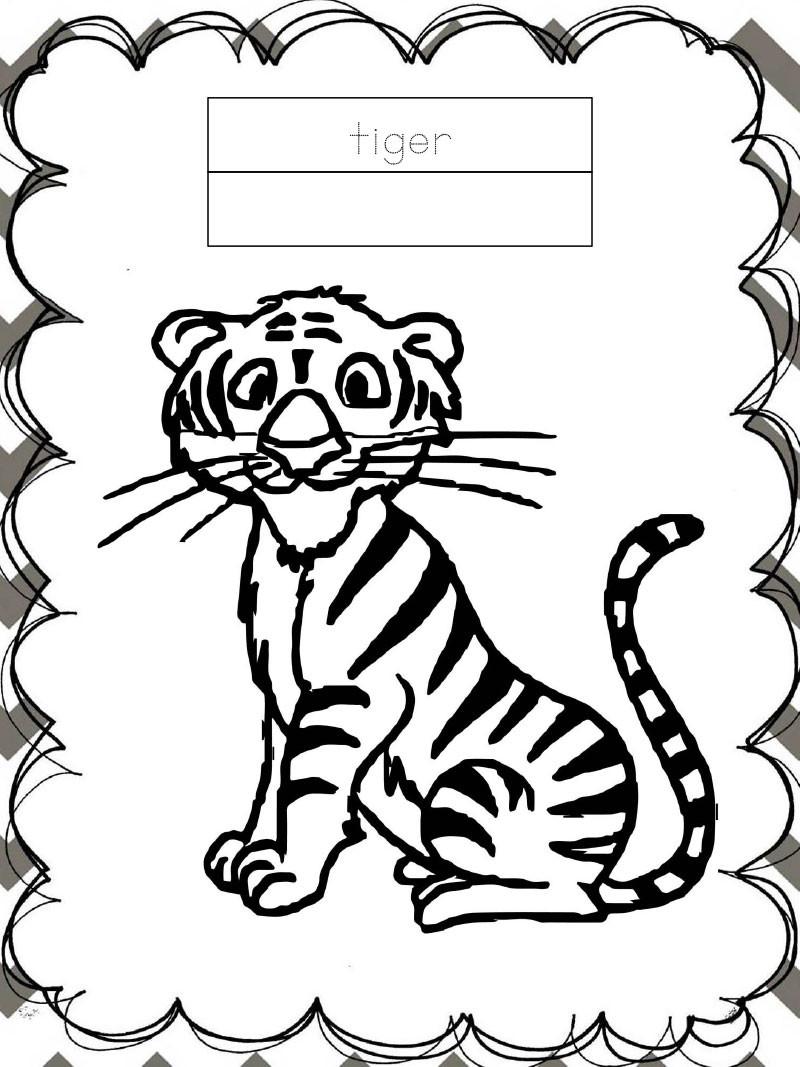 Tập tô màu động vật cho bé - con hổ - tiger