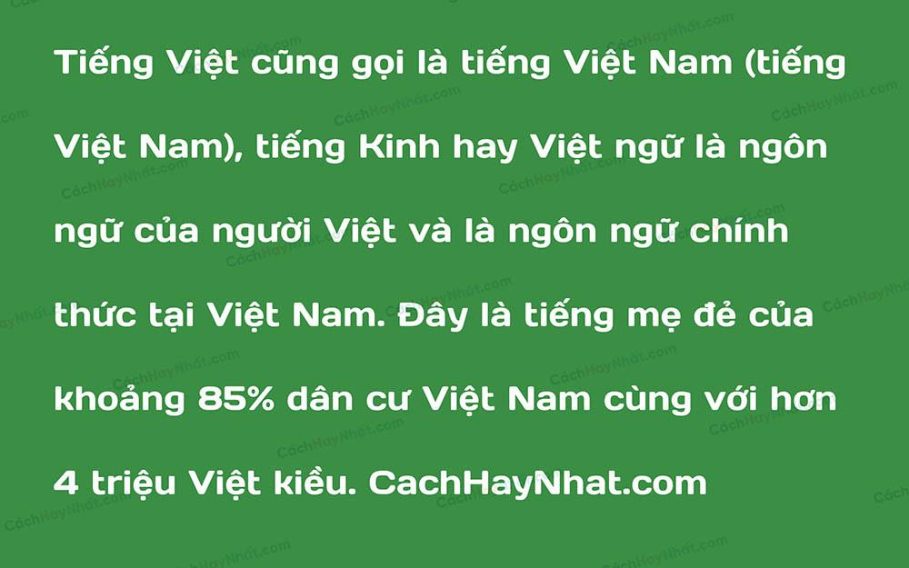 Font SVN Days Việt Hóa