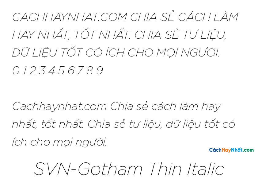 SVN-Gotham Thin Italic
