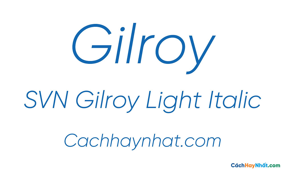 SVN Gilroy Light Italic