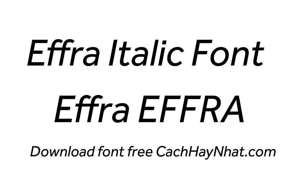 font effra regular italic