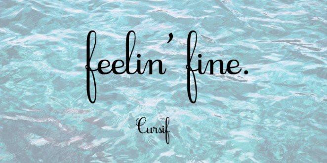 Font Cursif