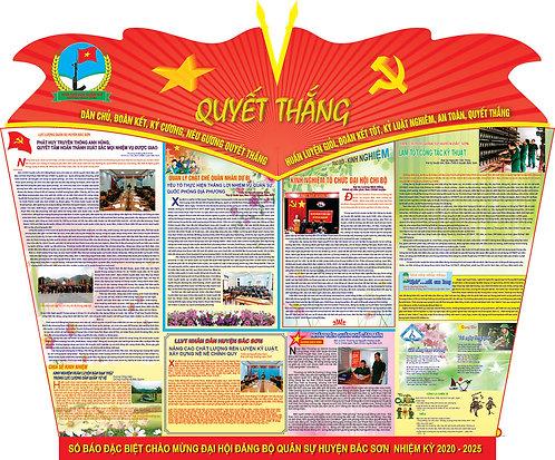 Wall-newspaper Congress Party Vector - Báo Tường Đại Hội Đảng