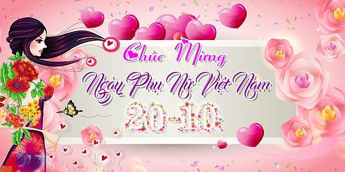 Phông Nền Background Ngày Phụ Nữ Việt Nam 20/10 PSD Photoshop 04