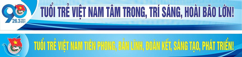Băng rôn Đại Hội Đại Biểu Đoàn TNCS Hồ Chính Minh